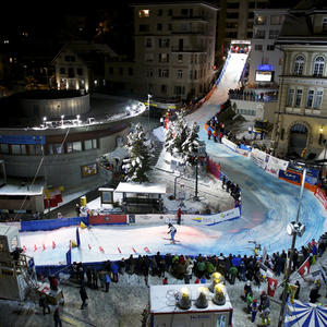 St. Moritz City Race with Open Air concert of Trauffer