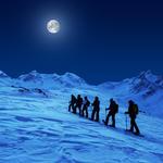 Vollmond-Schneeschuhtour